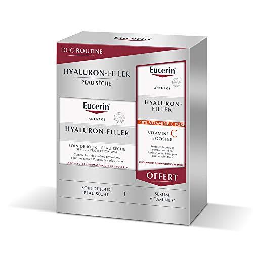 Eucerin Hyaluron-Filler Day Care SPF15 Dry Skin 50 ml + Vitamin C Booster 8 ml