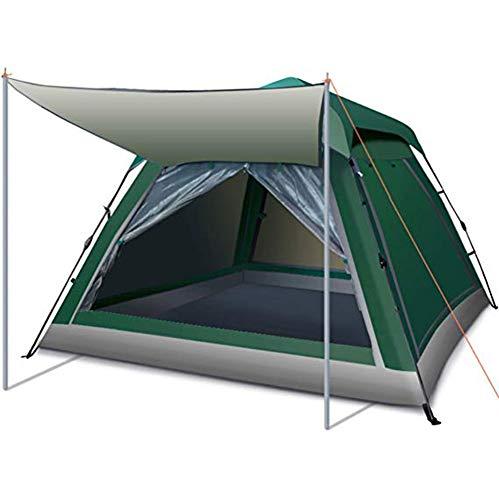 Camping Zelt Automatisches Instant Pop Up Camping Shelter Zelt Große Größe für 3–6 Personen Wasserdicht Anti-UV Familienzelt für Outdoor Camping Wandern Reisen Familie Strand, a, 215 * 215 * 142cm