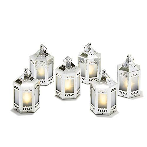 6pcs Silver Mini Lanterns