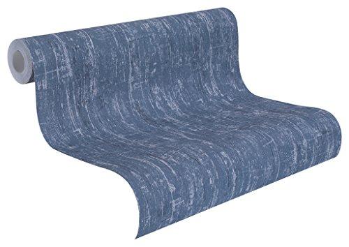 Rasch Tapeten Rasch Vlies-Tapete, Beton-Optik in blau, Souvenir, 513264