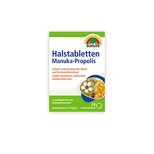 Sunlife Manuka - Propolis Halstabletten, 24 Tabletten