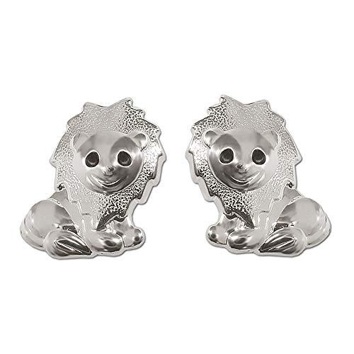 Clever gioielli corifenidi viennagold minadesign leone lucido con gli occhi neri in argento 925 per bambini
