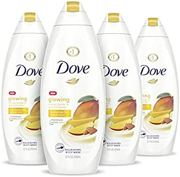 4-Pack Dove Glowing Body Wash Moisturizes for Radiant Skin