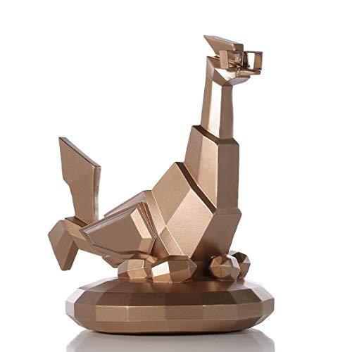 Yousiju Gafas Estatuilla de Pollo Resina Artesanía Regalo Estatuilla de Arte Moderno Adornos de Animales para decoración del hogar
