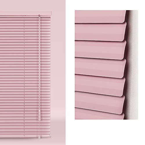 Jalousien Venezianische Hochwertigem 25mm Aluminium, Easy Fit Lamelle Für Home Office Zum Spannen, Sichtschutz, Licht- Und Blendschutz, Höhe 130cm (Farbe : Rosa, größe : 110 x 130 cm)
