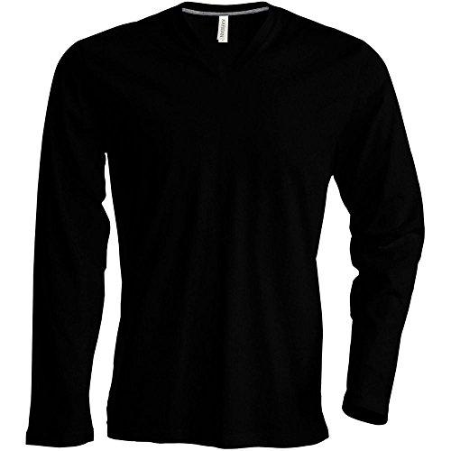 Kariban Tee-Shirt col V Manches Longues 100% Coton