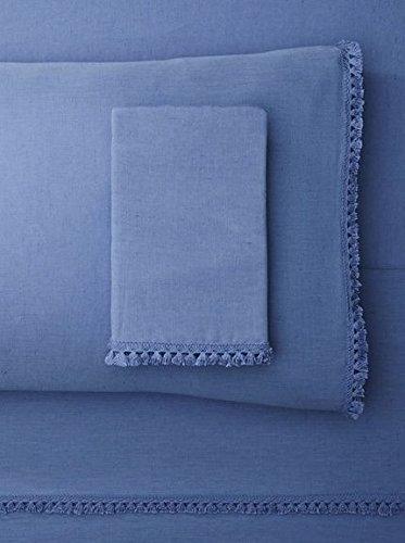 Lowest Prices! Belle Epoque Misto Tassle Sheet Set Queen Blue