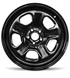 Road Ready Car Wheel Fits 2013-2019 Ford Taurus Explorer 18 Inch 5 Lug Black Steel Rim Fits R18 Tire - Exact OEM Replacement - Full-Size Spare