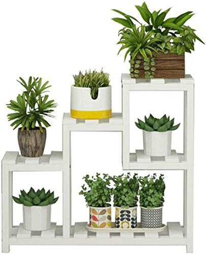 JinSui Plant Stands Holder for Home 4 Tier Planter Holder Plant Stand Indoor Flower Ladder Stair Shelf Garden Balcony Patio Corner Potted Succulents Display Rack