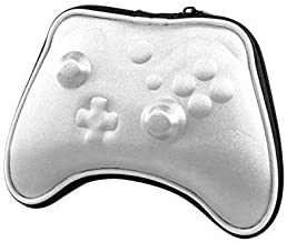 OSTENT Air Foam Hard Pouch Case Bag Sleeve Compatible for Microsoft Xbox One Wireless Controller - Color Silver