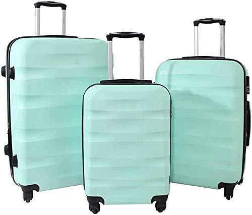 El equipaje tiene una mayor durabilidad, las asas telescópicas reforzadas y ensanchadas pueden soportar todos los golpes,Green