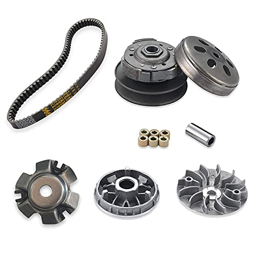 necaces Gy6 150cc High Performance clutch set,include clutch Assembly and Variator Assembly with High Performance 842 belt, fit for GY6 125cc And 150cc 4-Stroke Engine Scooter ATV Taotao