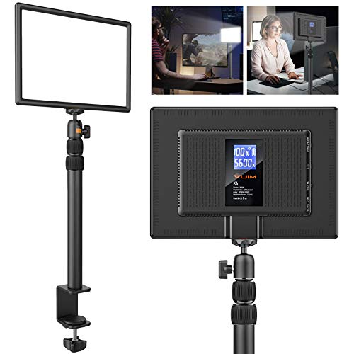 VIJIM Zoom Lighting for Computer,LED Video Light with C-Clamp Stand,Video Conference Lighting Kit for Remote Working,Computer Desk Lamp for Online Meetings,Zoom Call, Live Streaming,Self Broadcasting