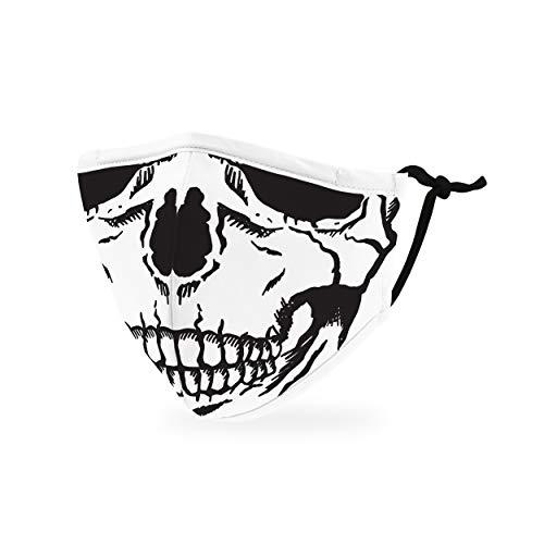 Weddingstar kinder waschbare, Mundschutzmasken aus Stoff. Wiederverwendbar und verstellbar mit Staubfiltertasche - Totenkopf