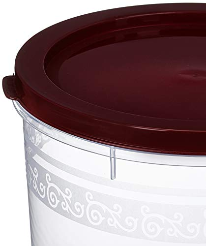 Amazon Brand - Solimo 2-Piece Kitchen Storage Container Set, 7.5 litres, Brown Lid, Plastic
