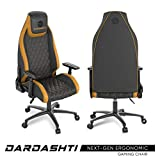 Atlantic Dardashti Gaming Chair - Commercial Grade, BIFMA X5.1 Tested, Next-Gen Ergonomic, Race Car Inspired Black with Golden Yellow Accents, PN78050358