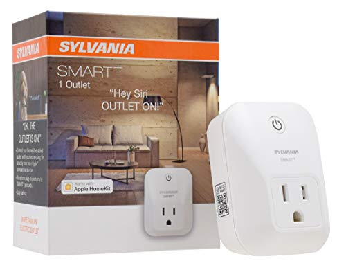 SYLVANIA SMART+ Apple HomeKit Smart Plug, Works with Siri Voice Control, No Hub Required for Set up