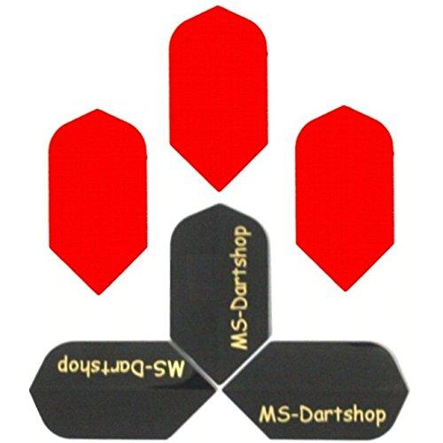MS-DARTSHOP Dart-Flights Nylon Slim, 3 Sätze = 9 Stück, incl. 1 Satz MS-DARTSHOP Flights (Orange)