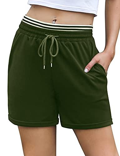 Wayleb Pantalones Cortos de Deporte Mujer Pantalon Corto Chandal de Verano para Mujer Casual Deportivos Shorts para Correr Yoga Fitness Gimnasio