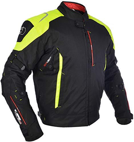 Oxford Toledo 1.0 Herren wasserdicht kurz Motorrad Jacke - schwarz/Neon - schwarz/gelb, XL