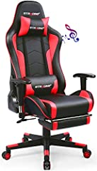 Music Gaming Chair: Original designed with two bluetooth speakers. the surround sound system brings out the best in your entertainment, delivering remarkable and richly detailed stereo sound out loud in solid bass and clear, full audio. connect it to...