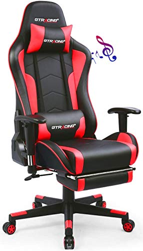 Gtracing Gaming Chair with Footrest and...