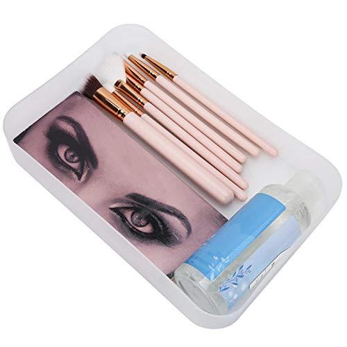 Boîte de rangement pour Nail Art Conteneur de maquillage hygiénique Support pour organisateur de maquillage Pratique pour Salon de beauté pour Salon de manucure pour outils à ongles(transparent)