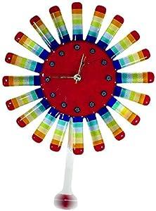 Sunny - Reloj de pared con péndulo (cristal de Murano)