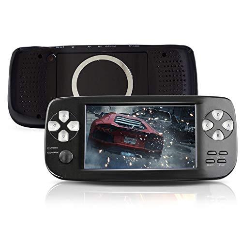 DXL Console de Jeu Portable, Console de Jeu PAP-KIII 4,3 Pouces Sortie TV 3000 Jeux - Noir