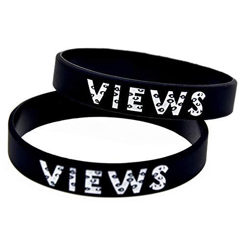 HAIHF Silikonarmband, Silikonarmbänder mit Sprüchen Drake Views from The 6 Band, Gummiarmbänder für Herren und Kinder, 6 Stück