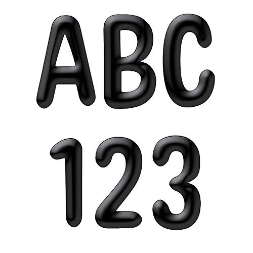 Eureka Black Alphabet and Numbers Bulletin Board and Classroom Decorations, 180pcs, 4'' H