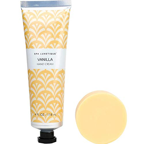 Spa Luxetique Moisturising Hand Cream, Shea Butter Hand Cream Gift Set, Vanilla Hand Cream Gift Set with Bar Soap Duo Gift Set for Her.