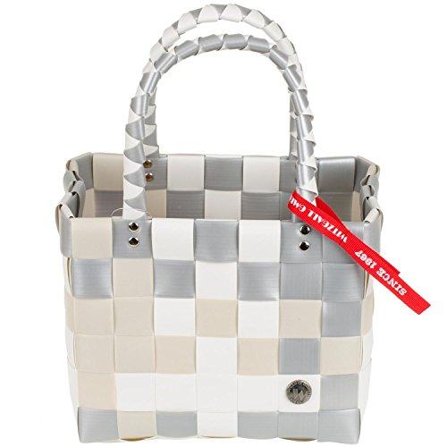 Mini Shopper Ice-Bag Witzgall, 5008-24 creme /silber kleiner Einkaufskorb