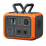 MAXOAK Power Station 500Wh Solar Generator Bluetti AC50S Wireless Charging Battery Backup for Outdoor Tailgating Camping RV Trip Power Outage(Dual AC Outlet,Pure Sine-Wave,PD 45W USB-C, LED Lighting)…