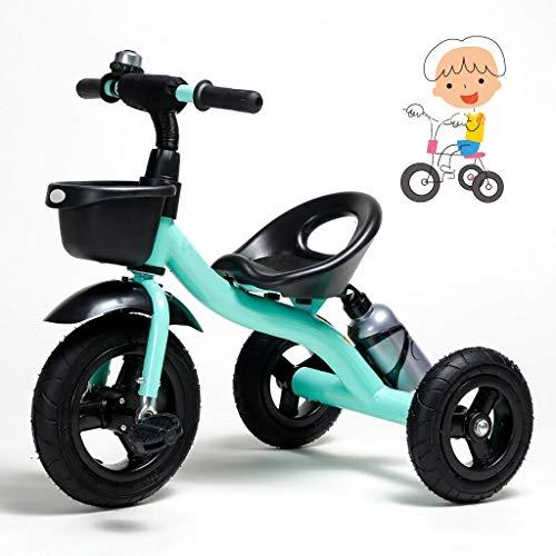 Triciclo los niños juguete for montar de 1 año de edad, en triciclo niño grande plegado del cochecito niño triciclo niña regalo de cumpleaños del triciclo de tres ruedas 1 principiante 1-6 años de eda