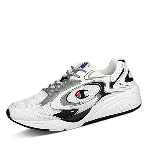 Champion Lexington 200 Reflect Herren Sneaker S21491 WW006 Nylonmesh Schnürung, Groesse 44, weiß/schwarz
