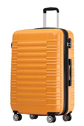 Reisekoffer 2088 Hartschalekoffer Gepäck Koffer Trolley Bordcase Handgepäck M in 14 Farben (Orangen)