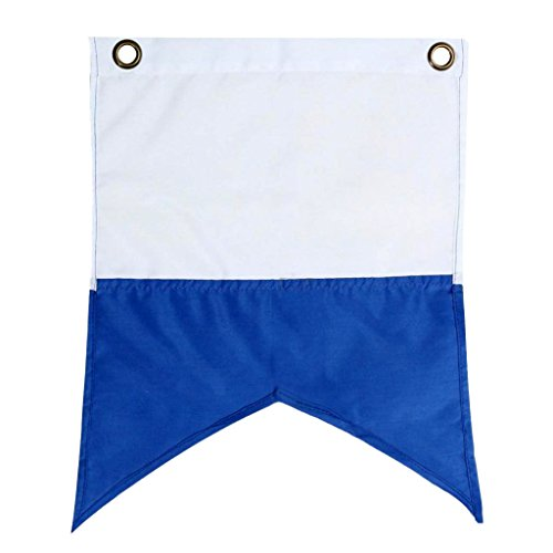 MagiDeal Taucherflagge Taucherfahne blau-weiße Flagge, Alphaflagge (35 x 30cm)
