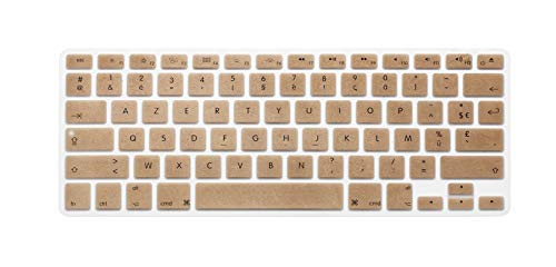 French U.S. Edition Soft Silicone Keyboard Protective Film for MacBook Keyboard Cover for Pro Air13 15Retina Display Azerty-Gold