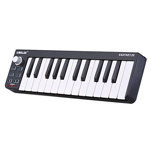 Tomshin Controlador MIDI USB de 25 teclas mini teclado portátil Easykey.25