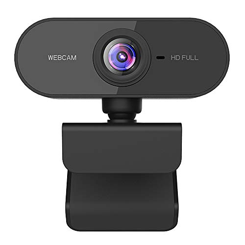 Dewanxin Webcam per PC, Webcam 1080p Full HD per PC, Laptop y Mac, USB 2.0 Videocamera con Microfono a Cancellazione di Rumore e Base Girevole a 360 °, per Videochiamate, Studio, Conferenza, Giochi