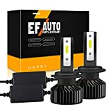 Kunsto 110W H7 LED Headlight Bulbs Canbus Error Free Conversion Kit 6500K14000Lm Xenon White Plug and Play Upgraded COB-Chips Xenon Halogen Replacement (Pack of 2)