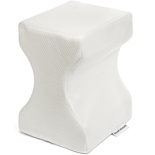 Knee Pillow Pain Relief - Lower Back , Leg , and Knee Pain - Memory Foam Leg Pillow with Soft Removable Cover