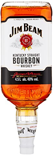 Jim Beam White Kentucky Straight Bourbon Whiskey, vollmundiger und milder Geschmack, 40% Vol, 1 x 4,5l