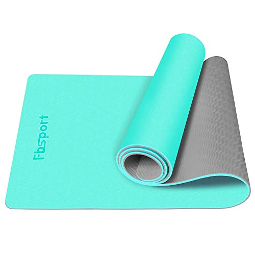 FBSPORT Yoga Mat For Ashtanga Yoga, Eco Friendly Non Slip 1/4 inch Fitness Exercise Mat with Carrying Strap & Storage...