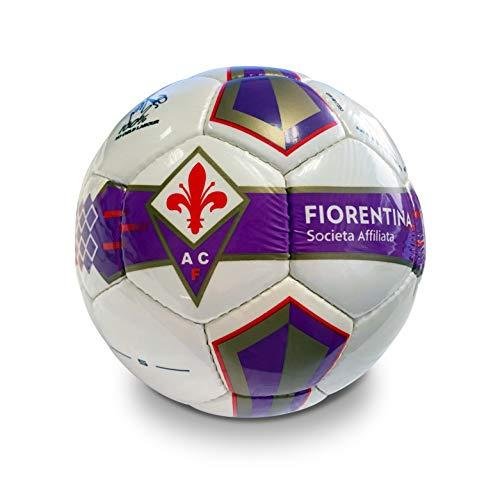 Mondo Sport Pallone Calcio Cucito A.C. Fiorentina, Unisex – Adulto, Prodotto Ufficiale - Colore: viola/rosso/bianco, Size 4, 380 g