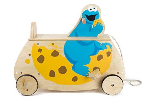 Small Foot- Sesame Street Cookie Bois Robuste, certifié 100% FSC, Chaise à Bascule avec Dossier pour Enfants Jouets, 10966, Multicolore