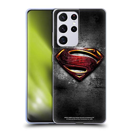 Head Case Designs Officially Licensed Justice League Movie Man of Steel Superman Logo Art Soft Gel Case Compatible with Samsung Galaxy S21 Ultra 5G