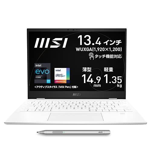 【タッチ機能対応・薄型軽量】MSIビジネスノートPC SummitE13 1.35Kg i7 IrisXe/13.4
