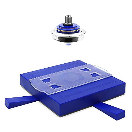 BOENXUA Set de platillo Volador Flotante, UFO suspendido giroscopio Aguas magnéticas Gyro Flotante Flotante Flotante Volando platillo Juguetes educativos Juguetes educativos niños,Azul